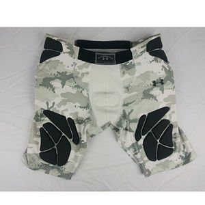 UA Mens Padded Compression Football Shorts XL